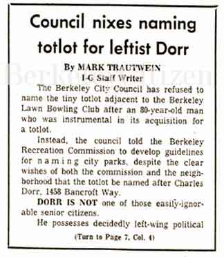 News article about Charlie Dorr
